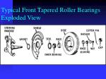 typical front tapered roller bearings exploded view