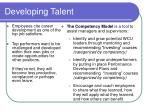 developing talent