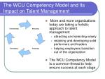 the wcu competency model and its impact on talent management
