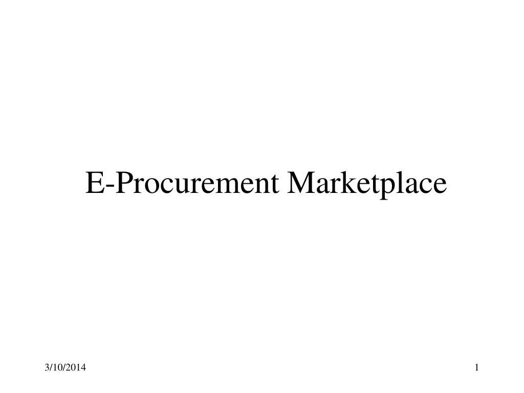 e procurement marketplace l.