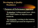 developing a quality workforce20
