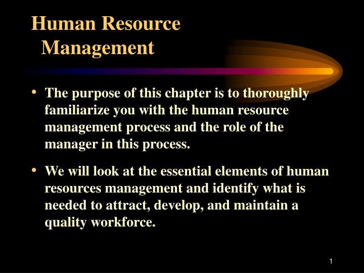 human resource management n.