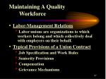 maintaining a quality workforce27