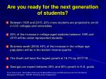 are you ready for the next generation of students