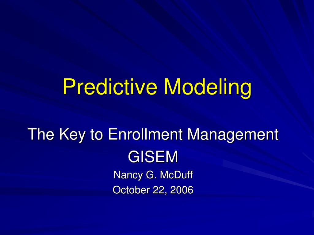 predictive modeling l.