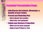 essential presentation steps