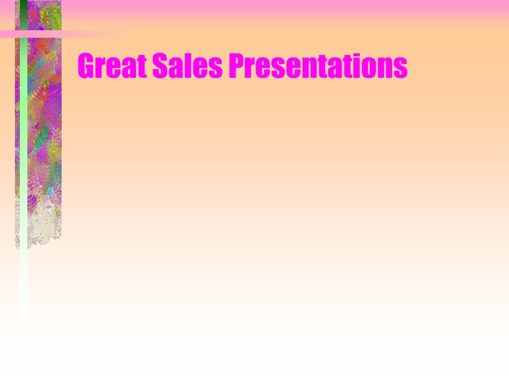 great sales presentations l.