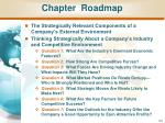 chapter roadmap