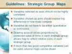 guidelines strategic group maps