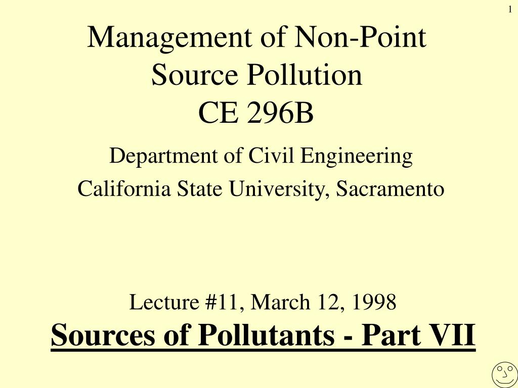 management of non point source pollution ce 296b l.