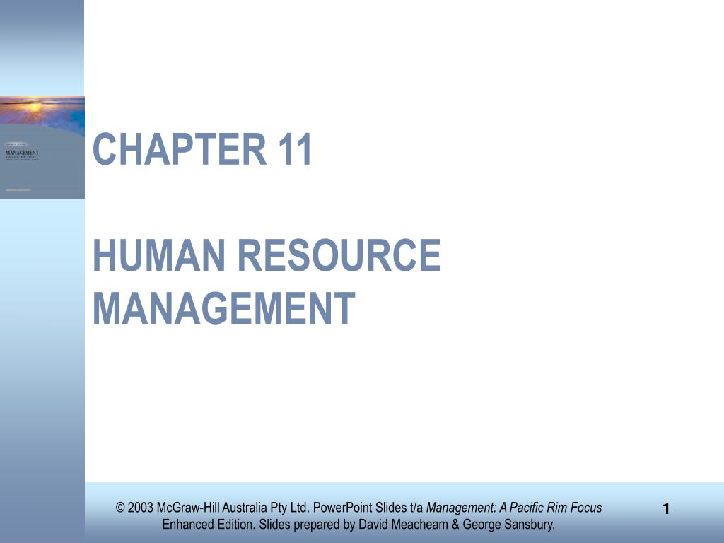 chapter 11 human resource management l.