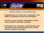 safety health competitiveness