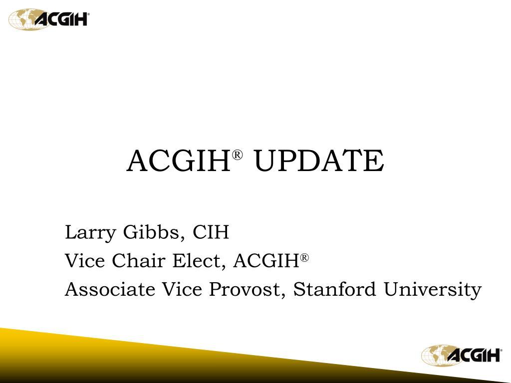 acgih update l.