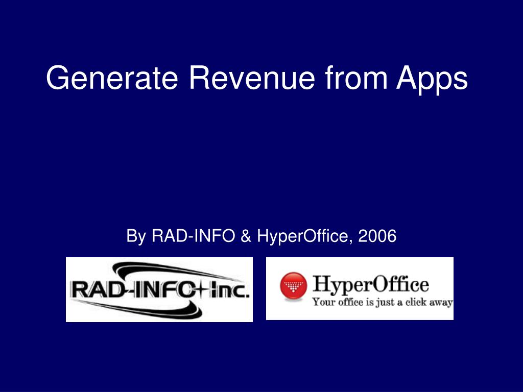 generate revenue from apps l.