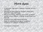 more apps