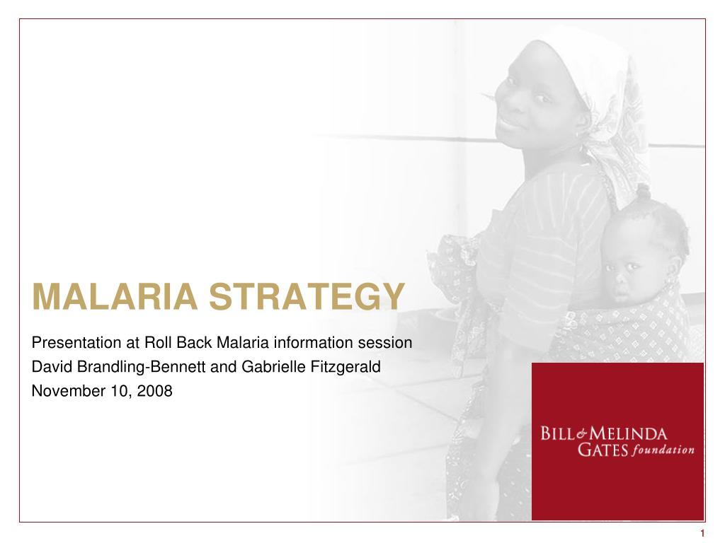 malaria strategy l.