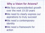 why a vision for arizona