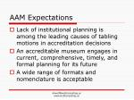 aam expectations