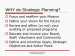 why do strategic planning