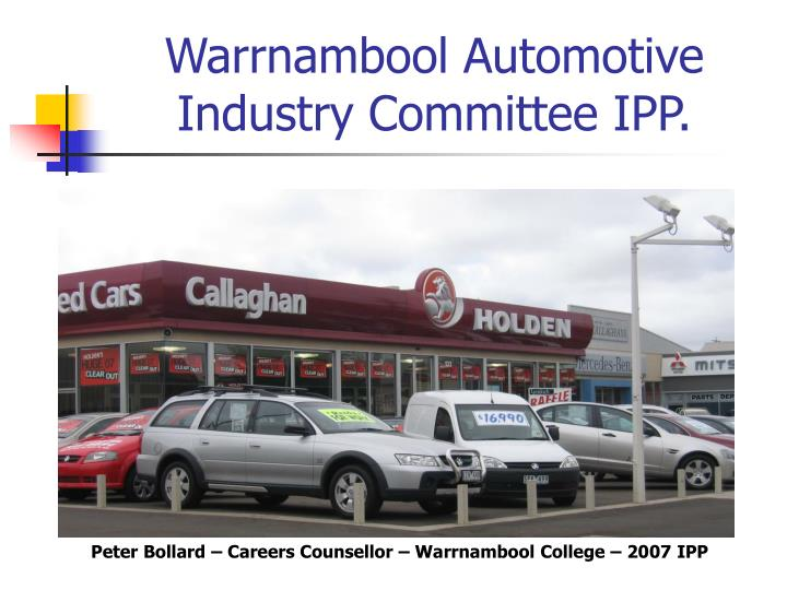 Warrnambool automotive industry committee ipp