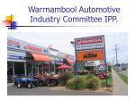 warrnambool automotive industry committee ipp2