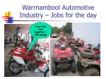 warrnambool automotive industry jobs for the day