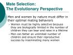 mate selection the evolutionary perspective