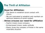 the thrill of affiliation