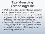 tips managing technology use