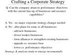 crafting a corporate strategy25