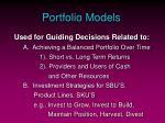 portfolio models12