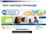 sam learning s homepage