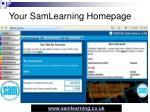 your samlearning homepage