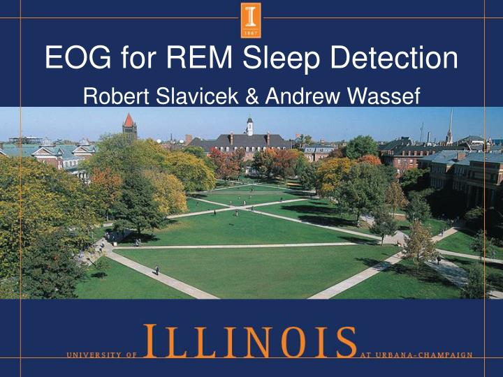 eog for rem sleep detection n.
