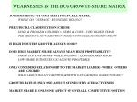 weaknesses in the bcg growth share matrix