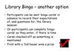 library bingo another option