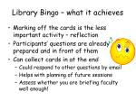 library bingo what it achieves