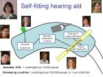 self fitting hearing aid