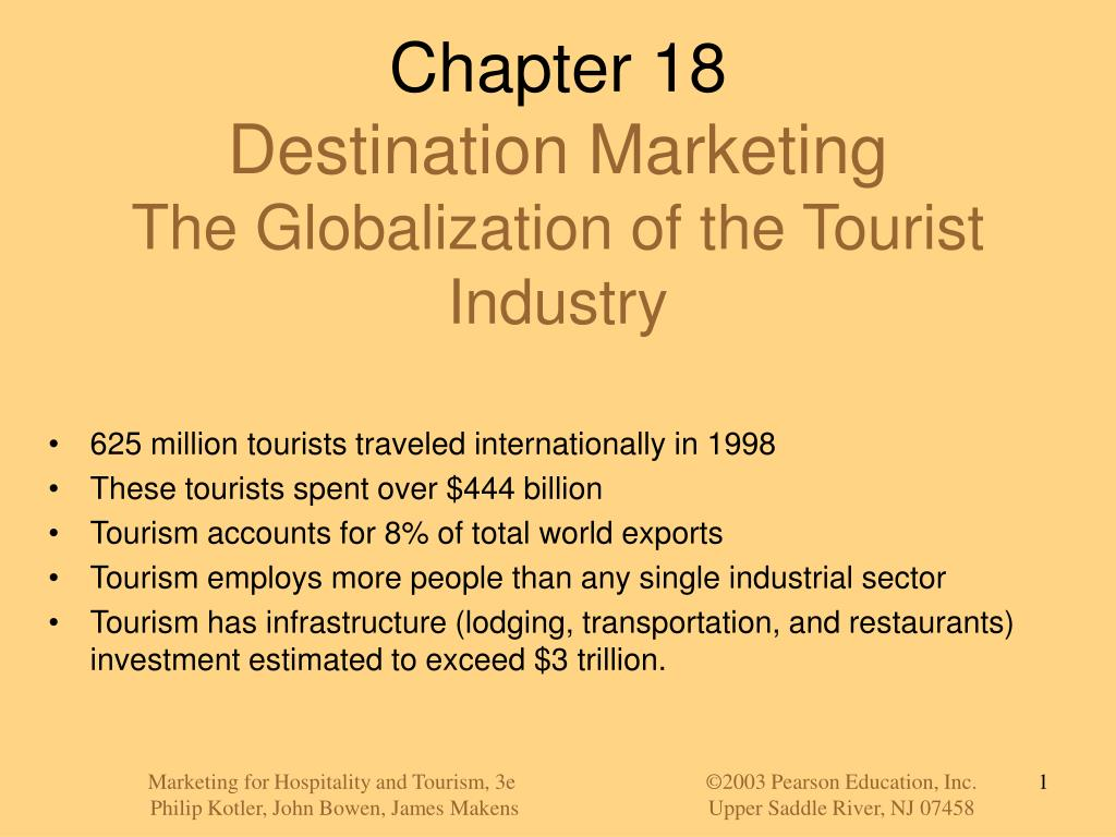 chapter 18 destination marketing the globalization of the tourist industry l.