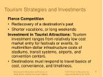tourism strategies and investments
