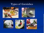 types of garnishes
