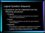 logical question sequence