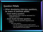 question pitfalls