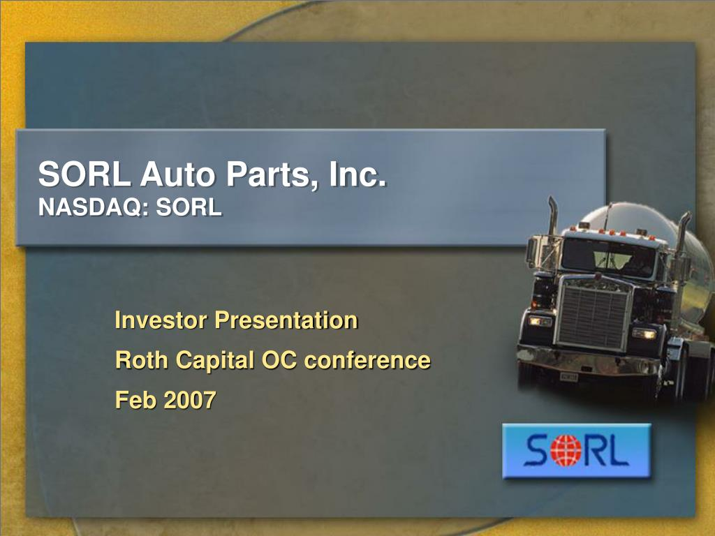 sorl auto parts inc nasdaq sorl l.