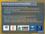 strategic long term relationships