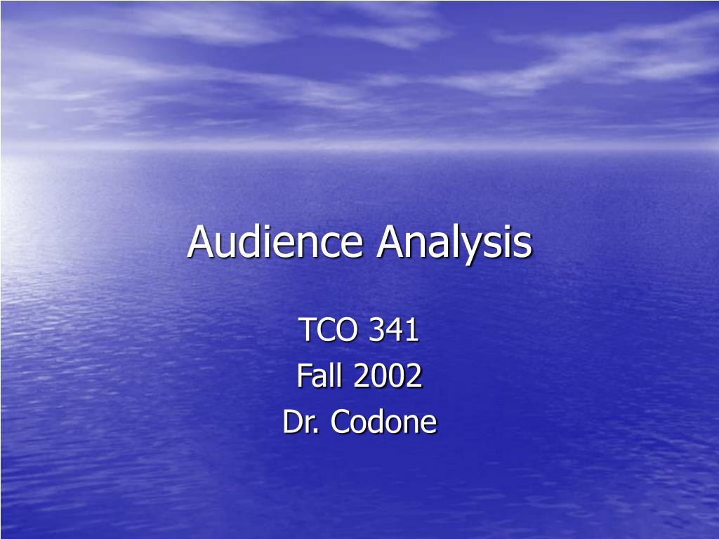 audience analysis l.