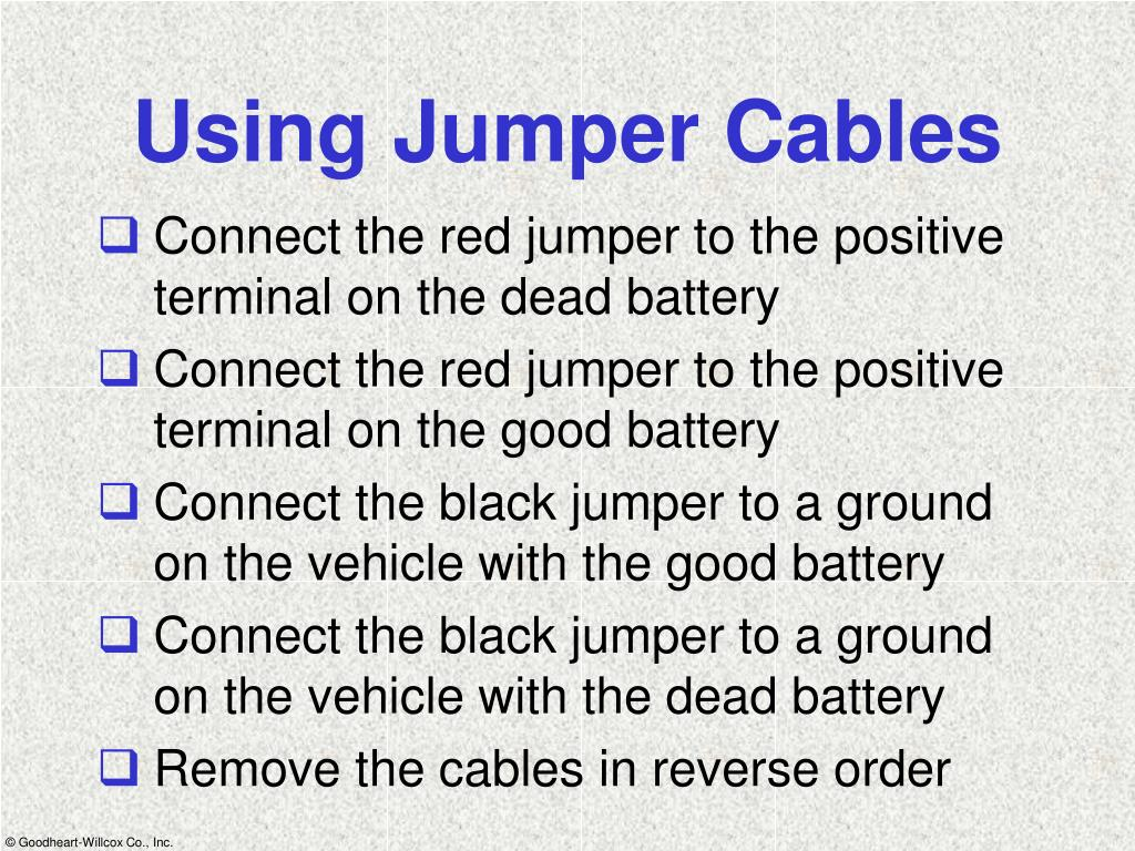 Using Jumper Cables