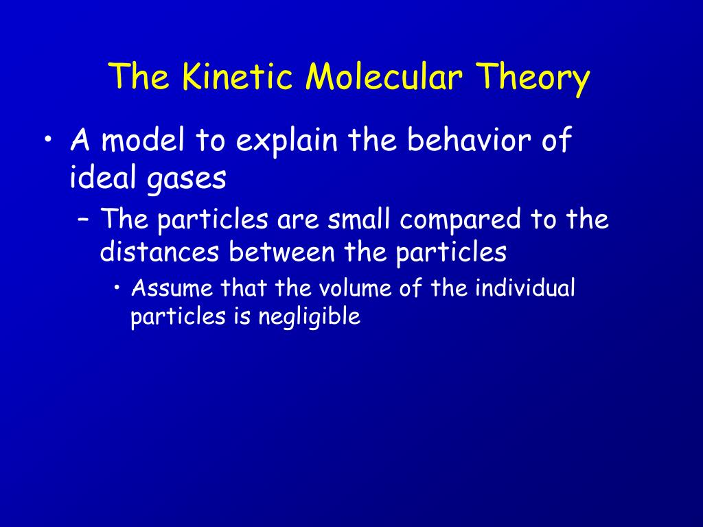 the kinetic molecular theory l.