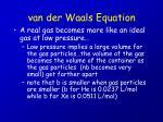 van der waals equation21