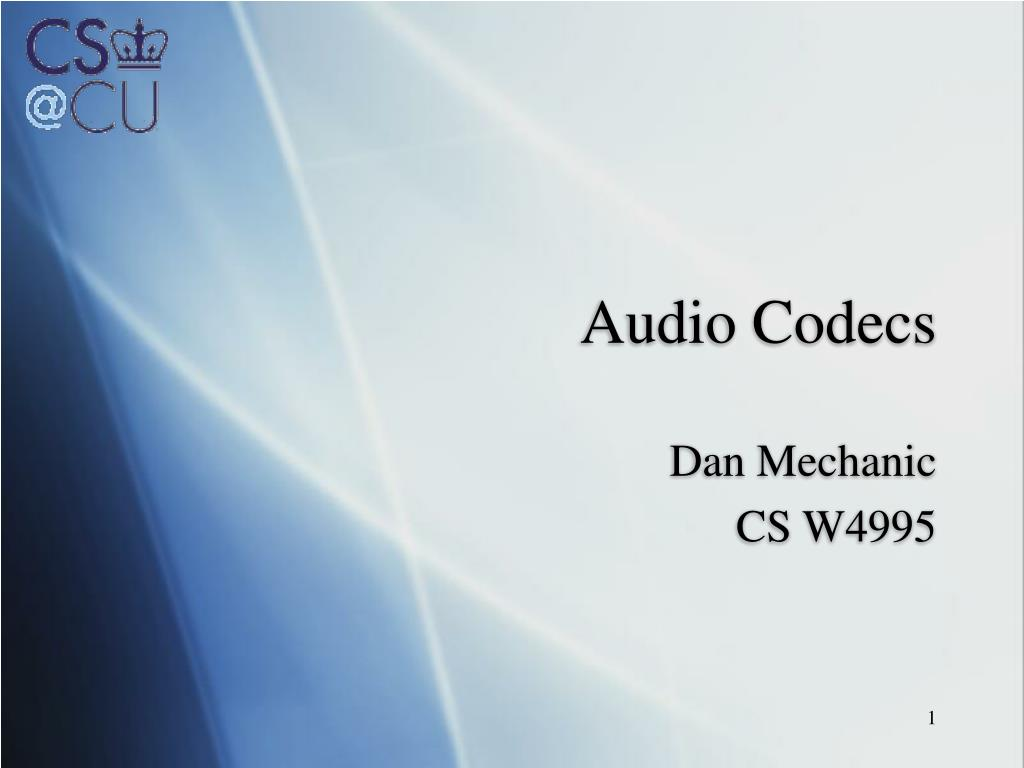 audio codecs l.